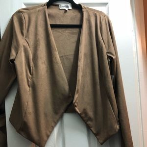 Faux Swede Open Blazer
